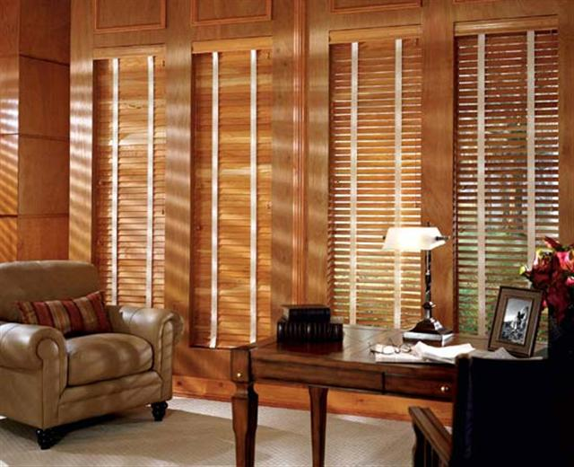 The different between wood blinds.